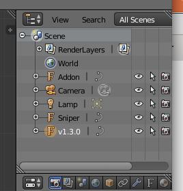 переименовать списо объектов в Blender 3D