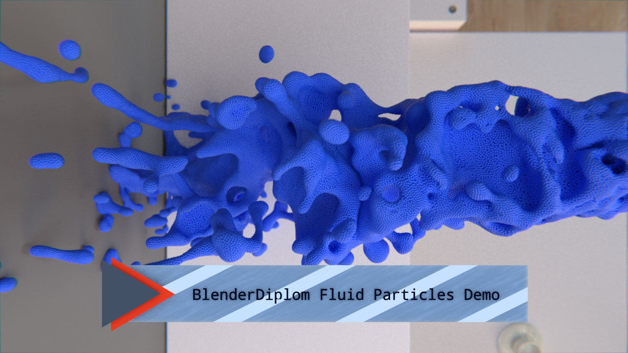 Blender Fluid Particle Demo