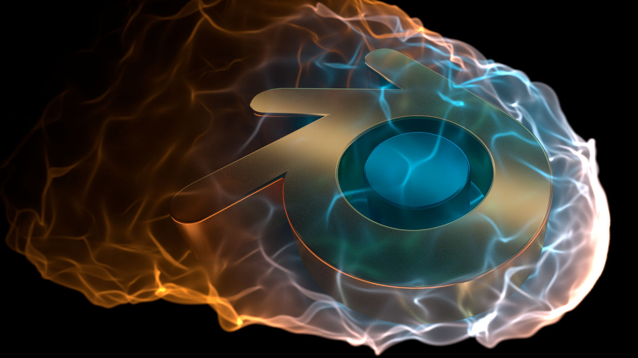 Stylized Flame: Blender Logo